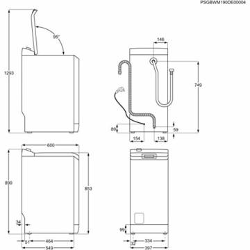 AEG L6TB40460 Waschmaschine Toplader / 6,0 kg / Mengenautomatik / Nachlegefunktion / Kindersicherung / Wasserstopp / 1400 U/min - 9