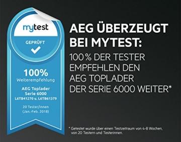 AEG L6TB41270 Waschmaschine / Energieklasse A+++ (175 kWh pro Jahr) / 7 kg / Toplader Waschautomat / ProSense Mengenautomatik / Startzeitvorwahl / Weiß - 6