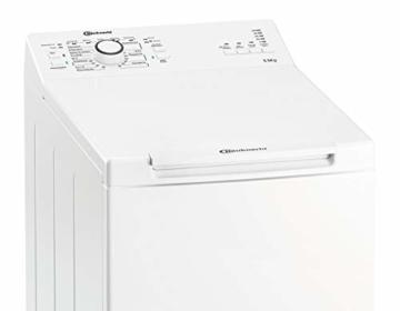 Bauknecht WAT Prime 550 SD N Toplader-Waschmaschine / 5,5 kg / 1000 UpM/Kurz 15 /Startzeitvorwahl/leise mit 60dB/ Mehrfachwasserschutz +/Kurz-Taste, Weiß - 5