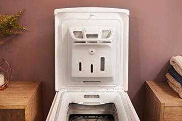 Bauknecht WAT Prime 550 SD N Toplader-Waschmaschine / 5,5 kg / 1000 UpM/Kurz 15 /Startzeitvorwahl/leise mit 60dB/ Mehrfachwasserschutz +/Kurz-Taste, Weiß - 6