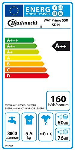 Bauknecht WAT Prime 550 SD N Toplader-Waschmaschine / 5,5 kg / 1000 UpM/Kurz 15 /Startzeitvorwahl/leise mit 60dB/ Mehrfachwasserschutz +/Kurz-Taste, Weiß - 7