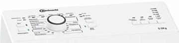 Bauknecht WAT Prime 550 SD N Toplader-Waschmaschine / 5,5 kg / 1000 UpM/Kurz 15 /Startzeitvorwahl/leise mit 60dB/ Mehrfachwasserschutz +/Kurz-Taste, Weiß - 2