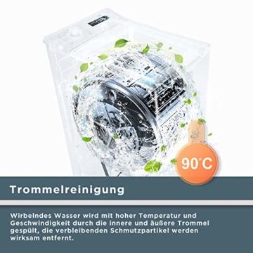 Midea Toplader Waschmaschine TW 5.72 di / 7,5 KG Fassungsvermögen / Energieeffizienzklasse A+++ / Reload Funktion / 1200 U/min / Soft Opener - 3