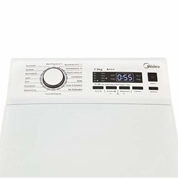 Midea Toplader Waschmaschine TW 5.72 di / 7,5 KG Fassungsvermögen / Energieeffizienzklasse A+++ / Reload Funktion / 1200 U/min / Soft Opener - 8