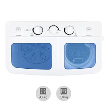 oneConcept Ecowash XL Waschmaschine 4,2 kg Schleuder 3 kg - 4