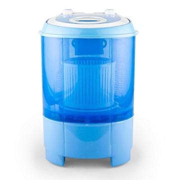oneConcept SG003 - Camping-Waschmaschine, Mini-Waschmaschine, Wäscheschleuder, Toploader, 2,8 kg Kapazität, 180 Watt Leistung, für Singles und Studentenhaushalte, geräuscharm, sparsam, blau - 2
