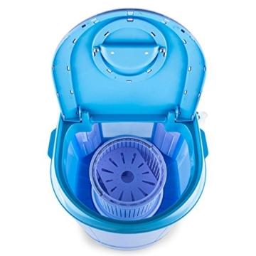 oneConcept SG003 - Camping-Waschmaschine, Mini-Waschmaschine, Wäscheschleuder, Toploader, 2,8 kg Kapazität, 180 Watt Leistung, für Singles und Studentenhaushalte, geräuscharm, sparsam, blau - 4