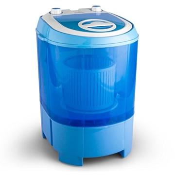 oneConcept SG003 - Camping-Waschmaschine, Mini-Waschmaschine, Wäscheschleuder, Toploader, 2,8 kg Kapazität, 180 Watt Leistung, für Singles und Studentenhaushalte, geräuscharm, sparsam, blau - 1