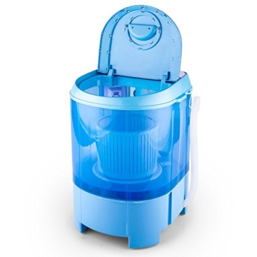 oneConcept SG003 - Camping-Waschmaschine, Mini-Waschmaschine, Wäscheschleuder, Toploader, 2,8 kg Kapazität, 180 Watt Leistung, für Singles und Studentenhaushalte, geräuscharm, sparsam, blau - 5