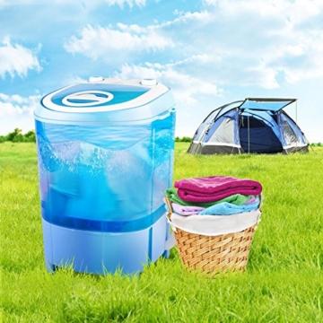 oneConcept SG003 - Camping-Waschmaschine, Mini-Waschmaschine, Wäscheschleuder, Toploader, 2,8 kg Kapazität, 180 Watt Leistung, für Singles und Studentenhaushalte, geräuscharm, sparsam, blau - 6