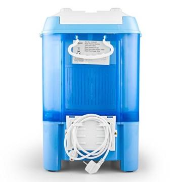 oneConcept SG003 - Camping-Waschmaschine, Mini-Waschmaschine, Wäscheschleuder, Toploader, 2,8 kg Kapazität, 180 Watt Leistung, für Singles und Studentenhaushalte, geräuscharm, sparsam, blau - 7