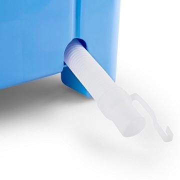 oneConcept SG003 - Camping-Waschmaschine, Mini-Waschmaschine, Wäscheschleuder, Toploader, 2,8 kg Kapazität, 180 Watt Leistung, für Singles und Studentenhaushalte, geräuscharm, sparsam, blau - 8
