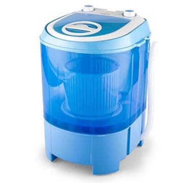 oneConcept SG003 - Camping-Waschmaschine, Mini-Waschmaschine, Wäscheschleuder, Toploader, 2,8 kg Kapazität, 180 Watt Leistung, für Singles und Studentenhaushalte, geräuscharm, sparsam, blau - 9