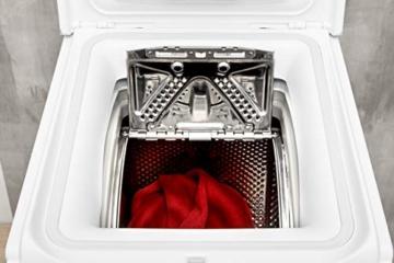 Privileg PWT D61253P (DE) Toplader Waschmaschine / A+++ / 6 kg / 1200 UpM / Startzeitvorwahl / Extra Waschen / Extra Spülen / Wolle-Programm / Wasserschutz / RapidWash-Programme unter 59 Minuten - 7