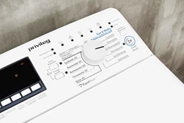Privileg PWT E71253P (DE) Toplader Waschmaschine / A+++ / 7 kg / 1200 UpM /Soft-Opening/Daunen/Startzeitvorwahl/Wolle-Programm/Wasserschutz/Bügelleicht-Option/Kindersicherung - 2