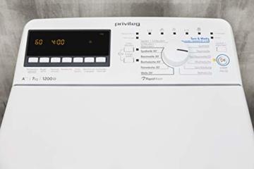 Privileg PWT E71253P (DE) Toplader Waschmaschine / A+++ / 7 kg / 1200 UpM /Soft-Opening/Daunen/Startzeitvorwahl/Wolle-Programm/Wasserschutz/Bügelleicht-Option/Kindersicherung - 5