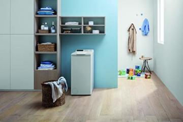Privileg PWT E71253P N (DE) Toplader Waschmaschine / 7 kg / 1152 UpM/Soft-Opening/Kurz 45'/Startzeitvorwahl/Wolle-Programm/Wasserschutz/Bügelleicht-Option/Kindersicherung Weiß - 4