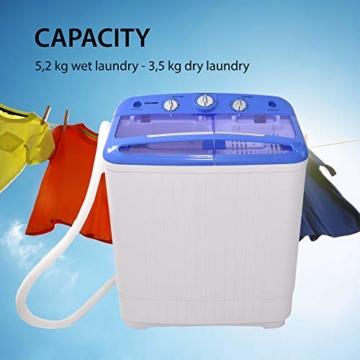 Syntrox Germany A+ 5,2 Kg Waschmaschine mit Pumpe und Schleuder Campingwaschmaschine Mini Waschmaschine - 2