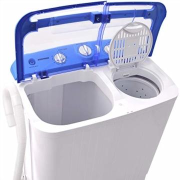Syntrox Germany A+ 5,2 Kg Waschmaschine mit Pumpe und Schleuder Campingwaschmaschine Mini Waschmaschine - 4