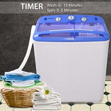 Syntrox Germany A+ 5,2 Kg Waschmaschine mit Pumpe und Schleuder Campingwaschmaschine Mini Waschmaschine - 5