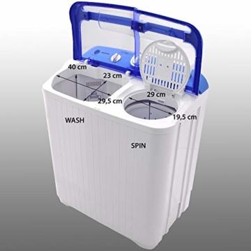 Syntrox Germany A+ 5,2 Kg Waschmaschine mit Pumpe und Schleuder Campingwaschmaschine Mini Waschmaschine - 6