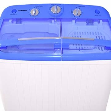 Syntrox Germany A+ 5,2 Kg Waschmaschine mit Pumpe und Schleuder Campingwaschmaschine Mini Waschmaschine - 7