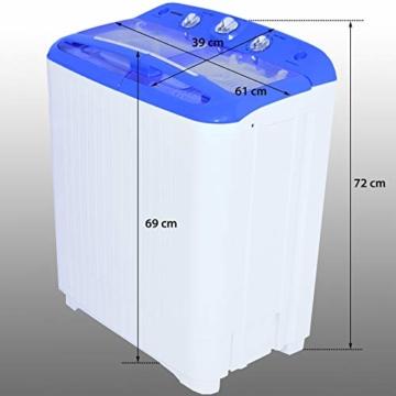 Syntrox Germany A+ 5,2 Kg Waschmaschine mit Pumpe und Schleuder Campingwaschmaschine Mini Waschmaschine - 8