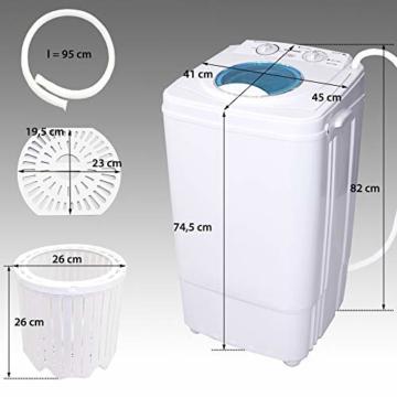 Syntrox Germany A 7 Kg Waschmaschine mit Schleuder Campingwaschmaschine Mini Waschmaschine - 3