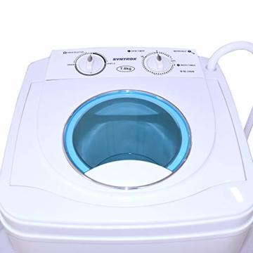 Syntrox Germany A 7 Kg Waschmaschine mit Schleuder Campingwaschmaschine Mini Waschmaschine - 7