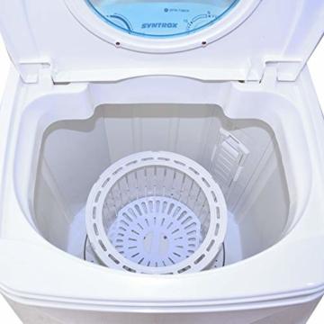 Syntrox Germany A 7 Kg Waschmaschine mit Schleuder Campingwaschmaschine Mini Waschmaschine - 9