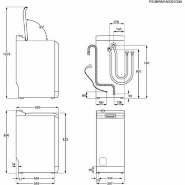 Zanussi ZWY61233KC Waschmaschine Toplader / 6 kg / Nachlegefunktion / 1.200 U/min - 2